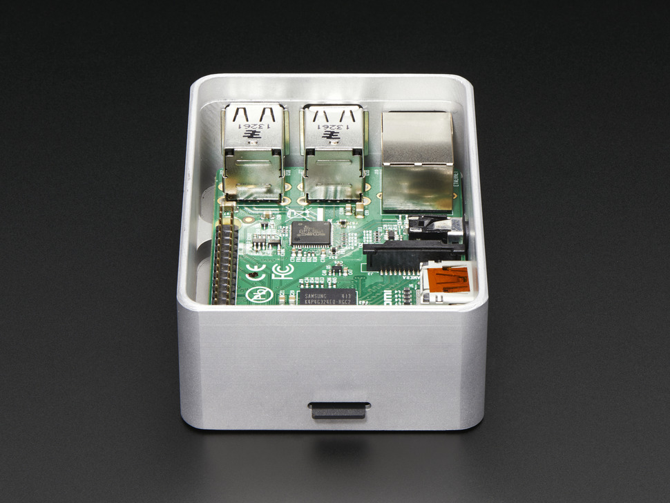 UniPi+ - Unibody aluminum case for Raspberry Pi - Model B+ / Pi 2 / Pi 3