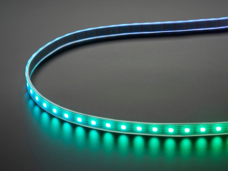 Adafruit DotStar Digital LED Strip - White 60 LED - Per Meter - WHITE