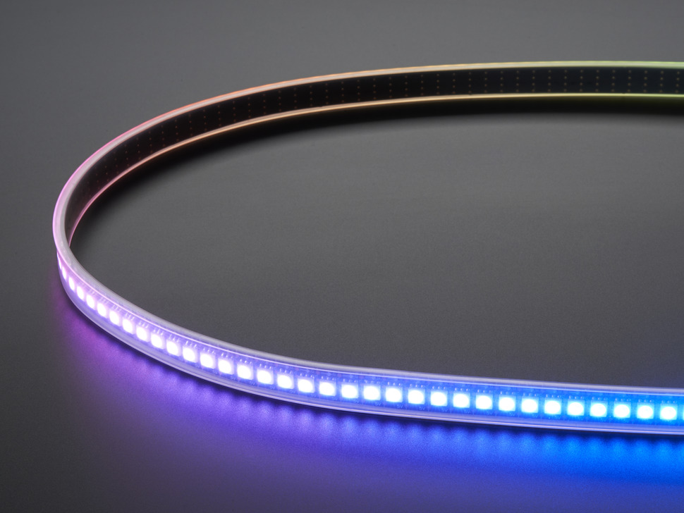 Adafruit DotStar Digital LED Strip - Black 144 LED/m - One Meter - BLACK