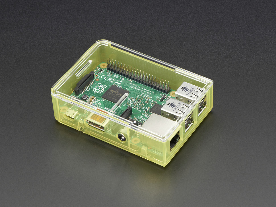 Pi Model B+ / Pi 2 / Pi 3 Case Base - Yellow