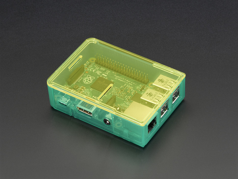 Pi Model B+ / Pi 2 / Pi 3 Case Base - Green