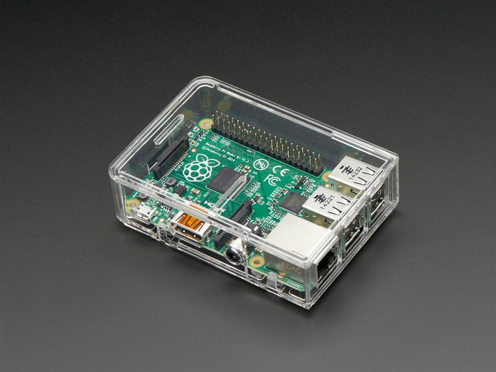 Pi Model B+ / Pi 2 / Pi 3 Case Base - Clear