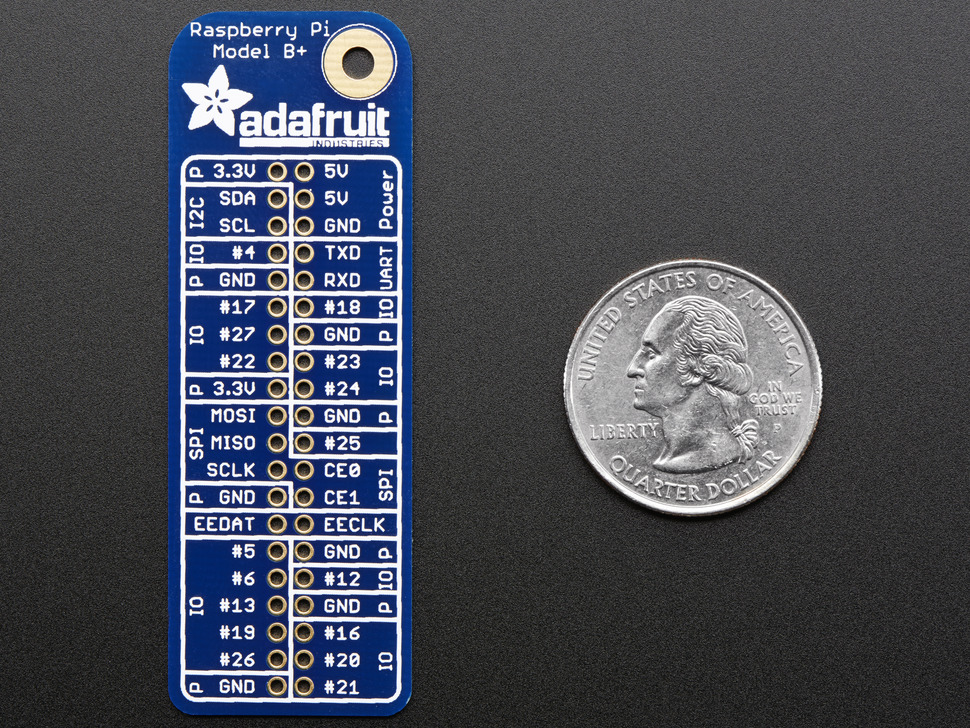 Adafruit GPIO Reference Card for Raspberry Pi Model B+/Pi 2/Pi 3
