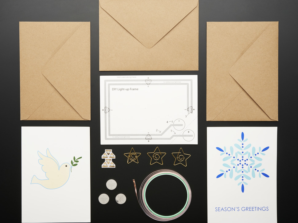 Chibitronics Circuit Stickers - Holiday Card Kit Pack
