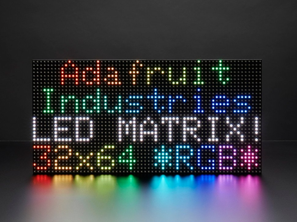 64x32 RGB LED Matrix - 6mm pitch