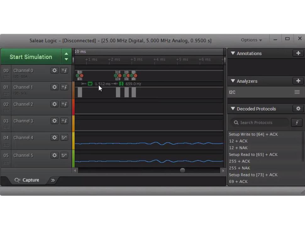 Saleae Logic 4 - 4 Channels Logic / 1 Channel Analog - Black