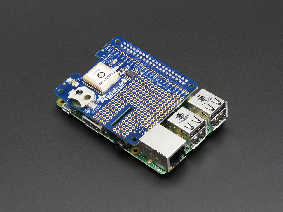 Adafruit Ultimate GPS HAT for Raspberry Pi A+/B+/Pi 2/Pi 3 - Mini Kit