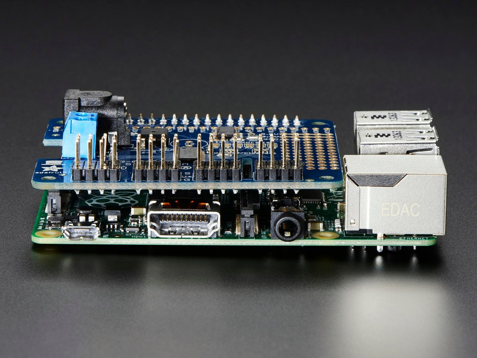 Adafruit 16 Channel Pwm Servo Hat For Raspberry Pi