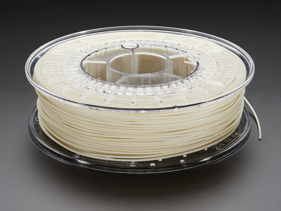 Spool of PLA/PHA Glowfill filament for 3D printer - glow in the dark color with 1.75mm Diameter.