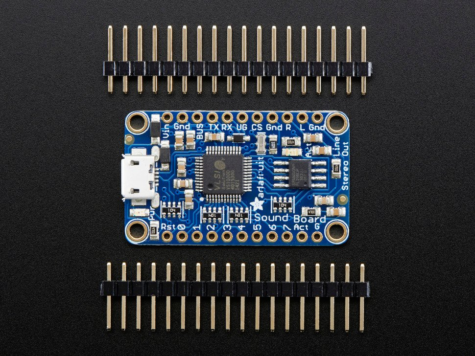 Adafruit Audio FX Mini Sound Board - WAV/OGG Trigger - 2MB Flash