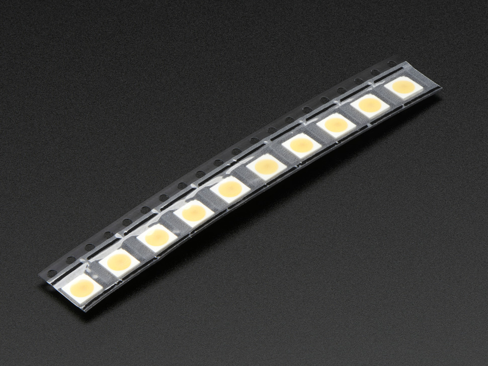 DotStar Addressable 5050 Warm White LED w/Integrated Driver Chip - 10 Pack ~3000K
