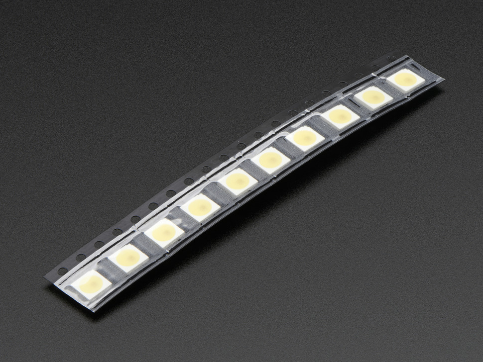5050 Cool White LED w/ Integrated Driver Chip - 10 Pack - ~6000K