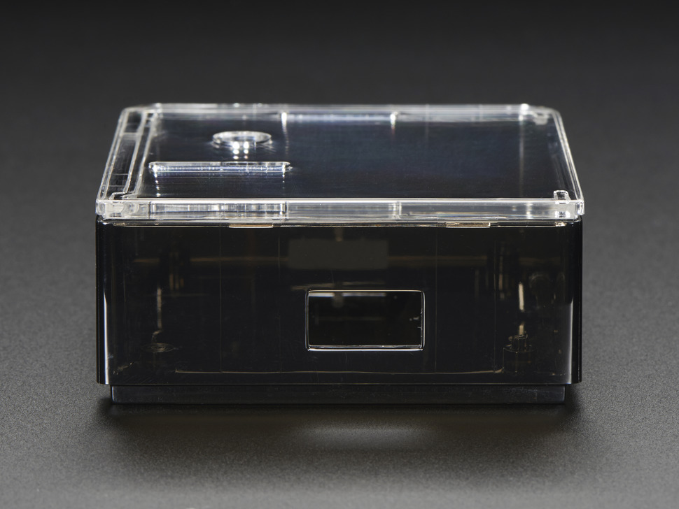Side shot of Adafruit Raspberry Pi A+ Case featuring USB port.