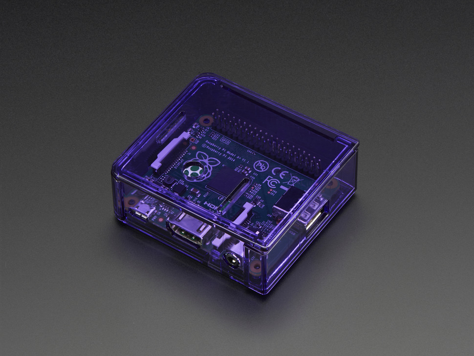 Pi Model A+ Case Base - Purple