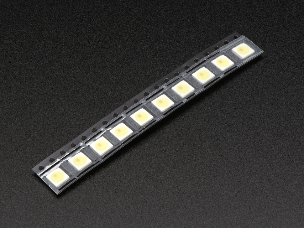 NeoPixel Cool White LED w/ Integrated Driver Chip - 10 Pack - ~6000K