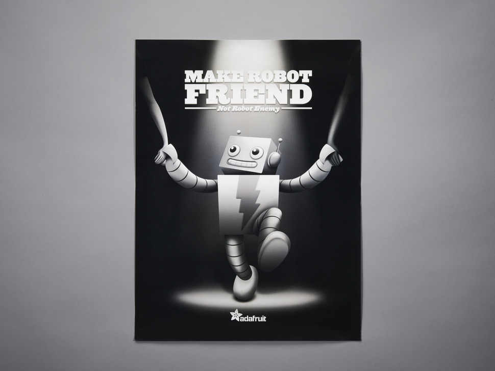 "ADABOT ""Make Robot Friend"" Poster"