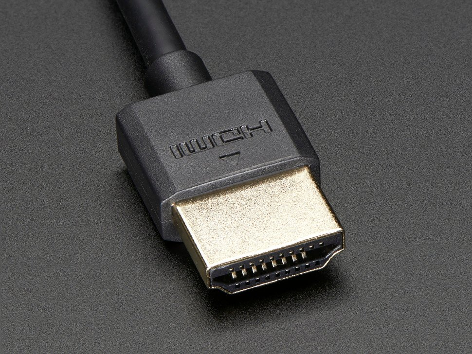 Close up shot of the HDMI connector end.