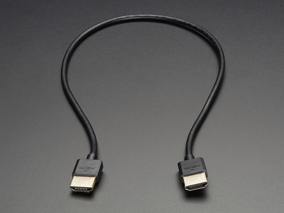 Slim HDMI Cable - 450mm / 1.5 feet long