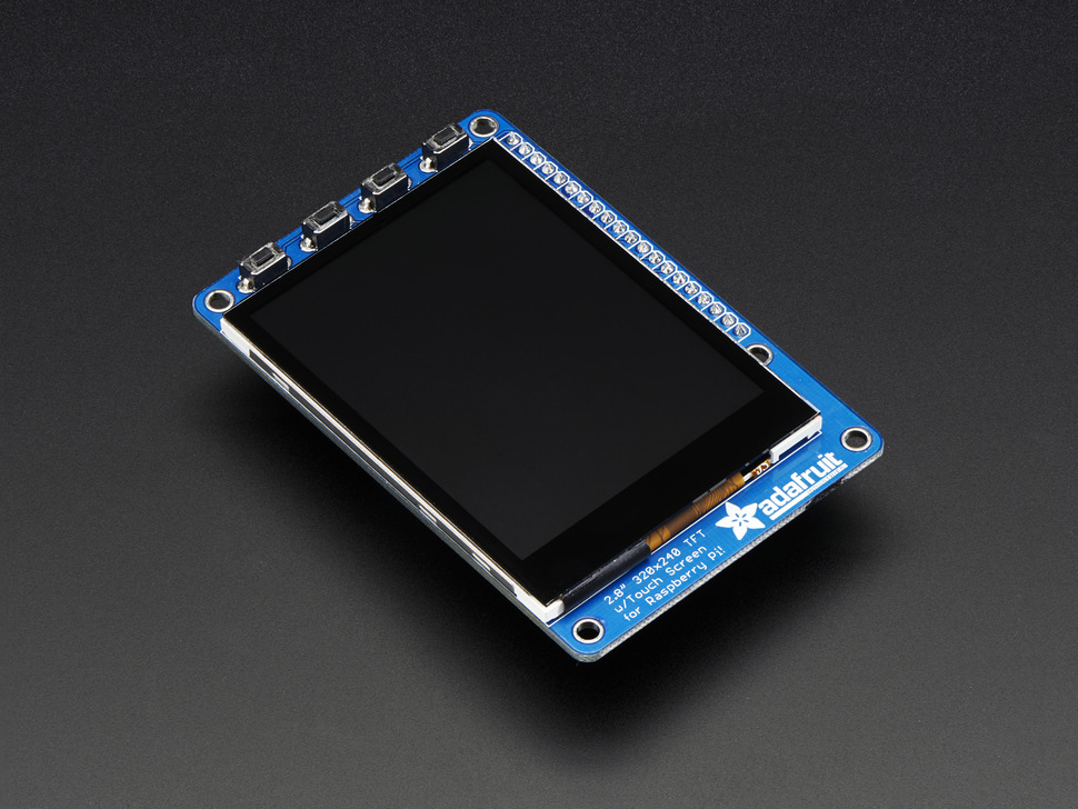 "Adafruit PiTFT Plus 320x240 2.8"" TFT + Capacitive Touchscreen"