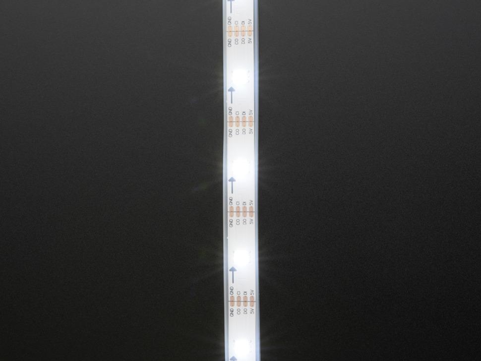 Adafruit DotStar LED Strip - Addressable Cool White - 30 LED/m - ~6000K