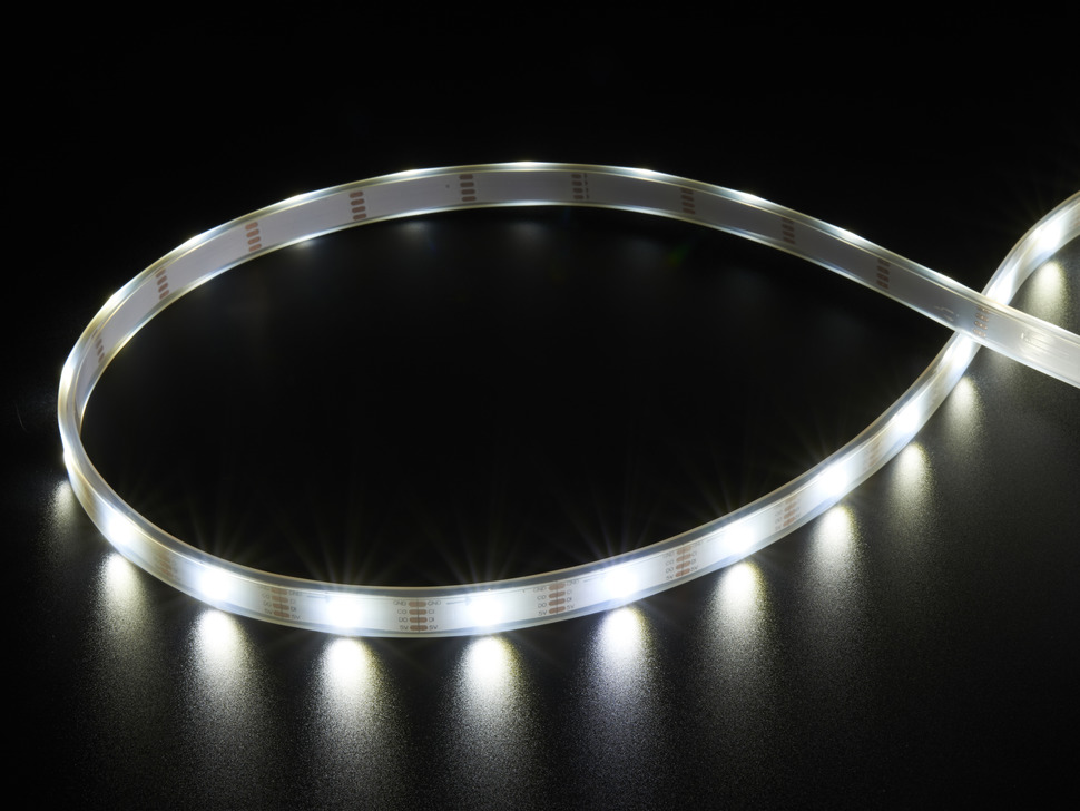 Adafruit DotStar LED Strip - Addressable Cool White - 30 LED/m - ~6000K