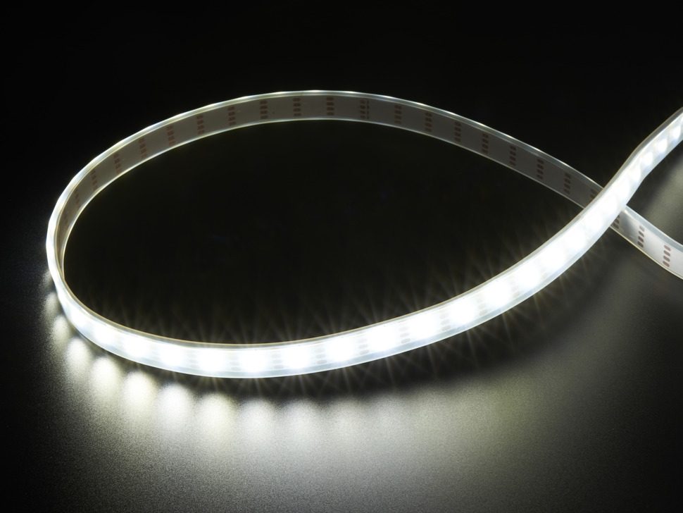 Adafruit DotStar LED Strip - Addressable Cool White - 60 LED/m - ~6000K