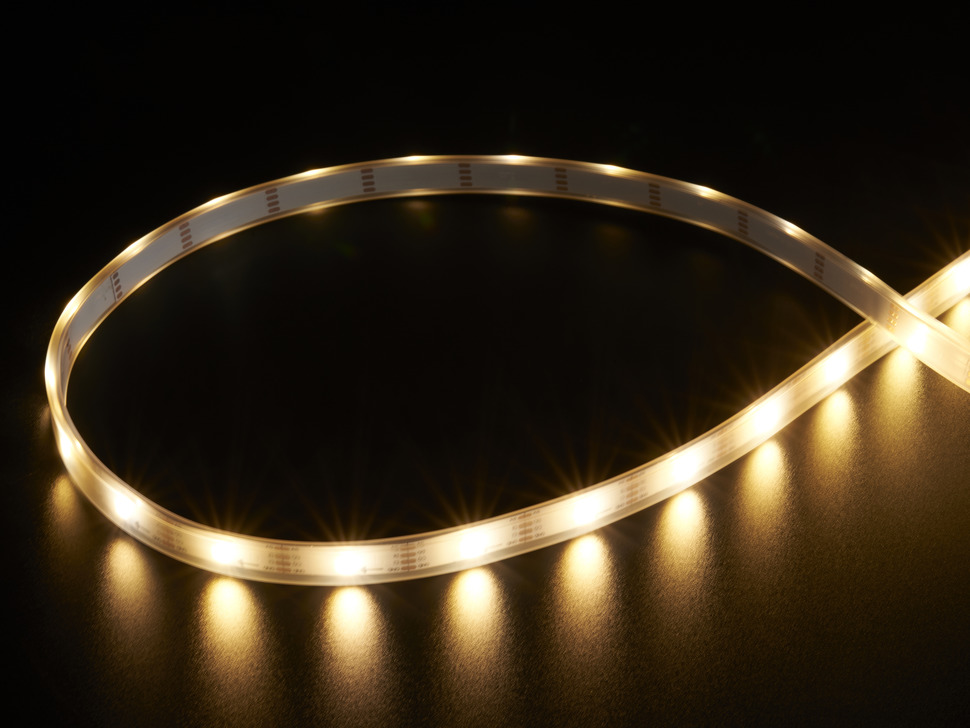 Adafruit DotStar LED Strip - Addressable Warm White - 30 LED/m - ~3000K