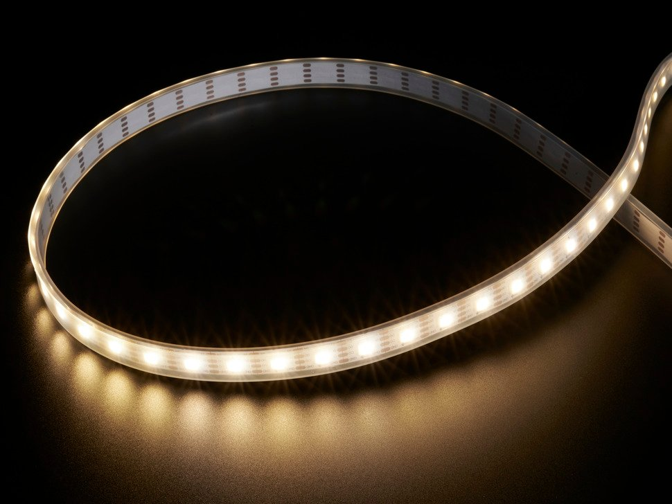 Adafruit DotStar LED Strip - Addressable Warm White - 60 LED/m - ~3000K