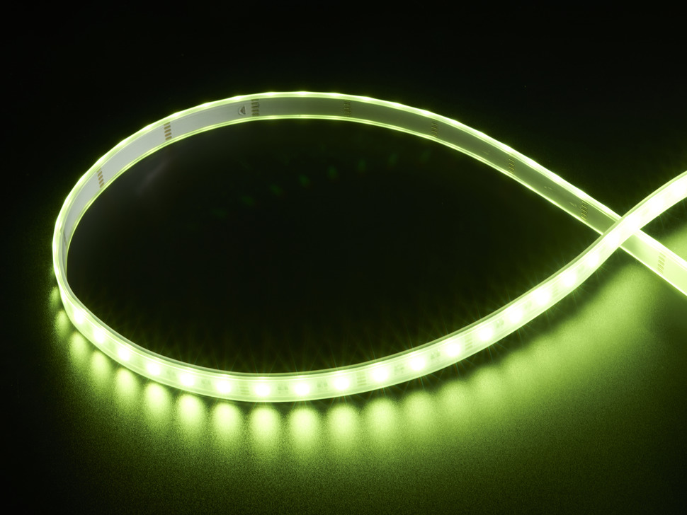 Analog RGBW LED Strip - RGB plus Warm White - 60 LED/m - ~3000K