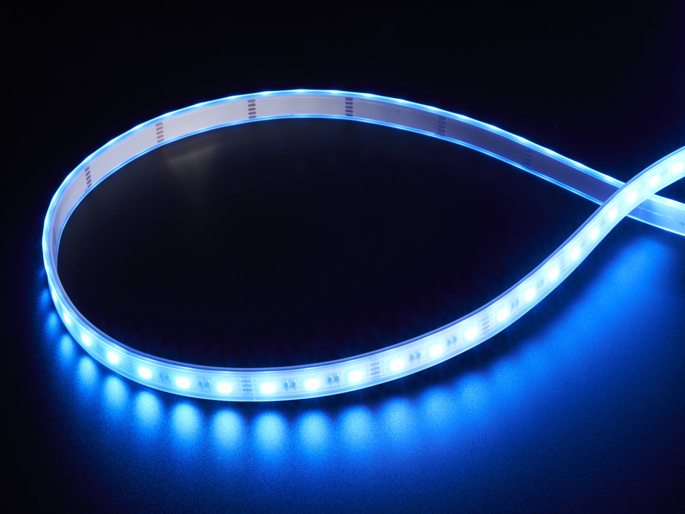 Analog RGBW LED Strip - RGB plus Cool White - 60 LED/m - ~6000K