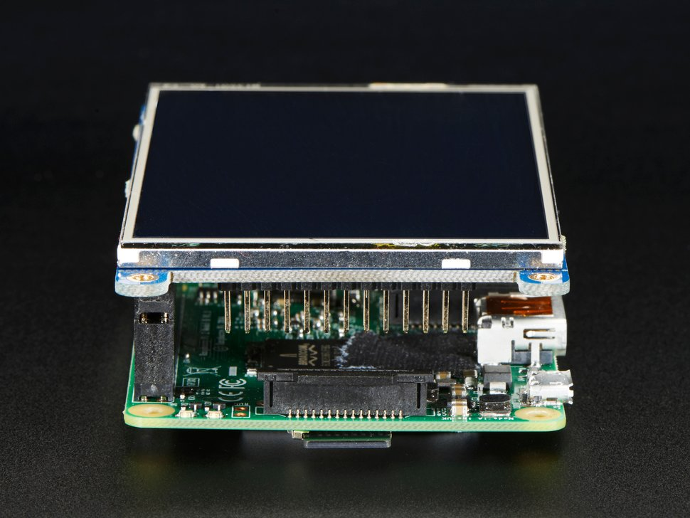 "PiTFT Plus 480x320 3.5"" TFT+Touchscreen for Raspberry Pi"