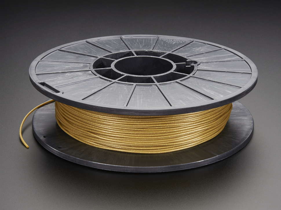 Spool of NinjaFlex Filament for 3D Printers - satin sheen gold color with 1.75mm Diameter.