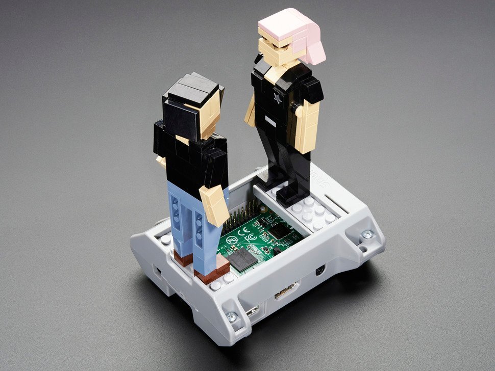SmartiPi - Building Block Compatible Case - Raspberry Pi B+ Pi2 - Gray