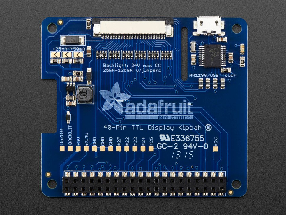 Adafruit DPI TFT Kippah for Raspberry Pi with Touch Support