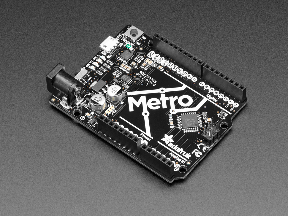 Adafruit METRO 328 - Arduino Compatible - with Headers - ATmega328