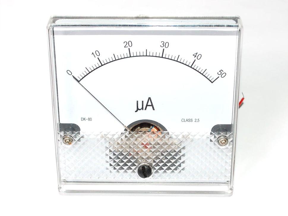 Analog panel meter - 50uA