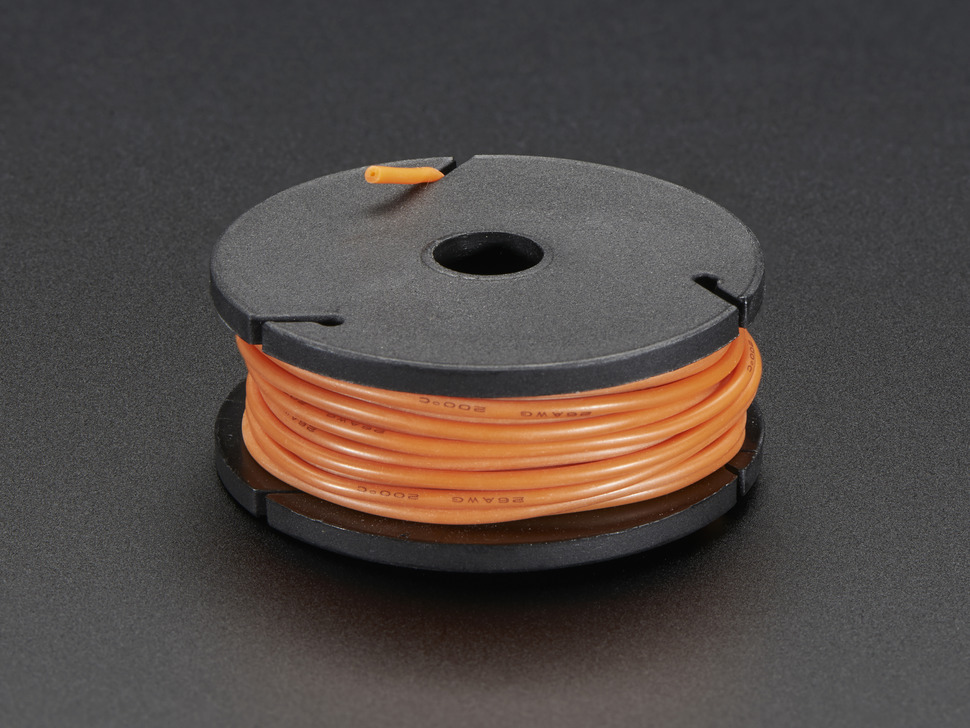 Silicone Cover Stranded-Core Wire - 25ft 26AWG - Orange