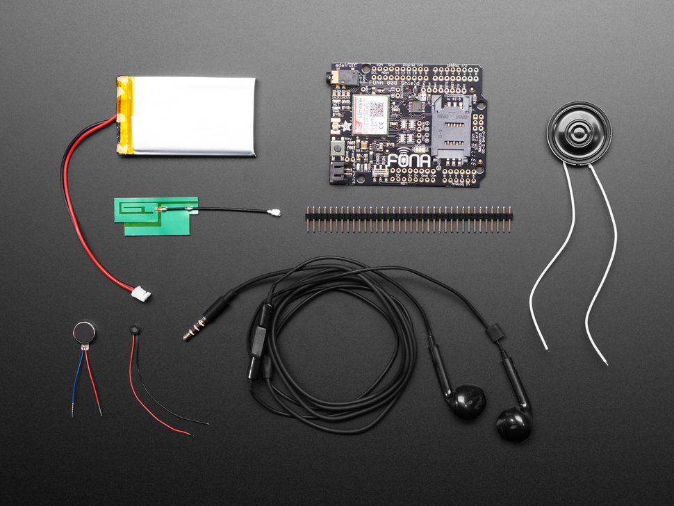 Adafruit FONA 800 uFL Shield Starter Pack