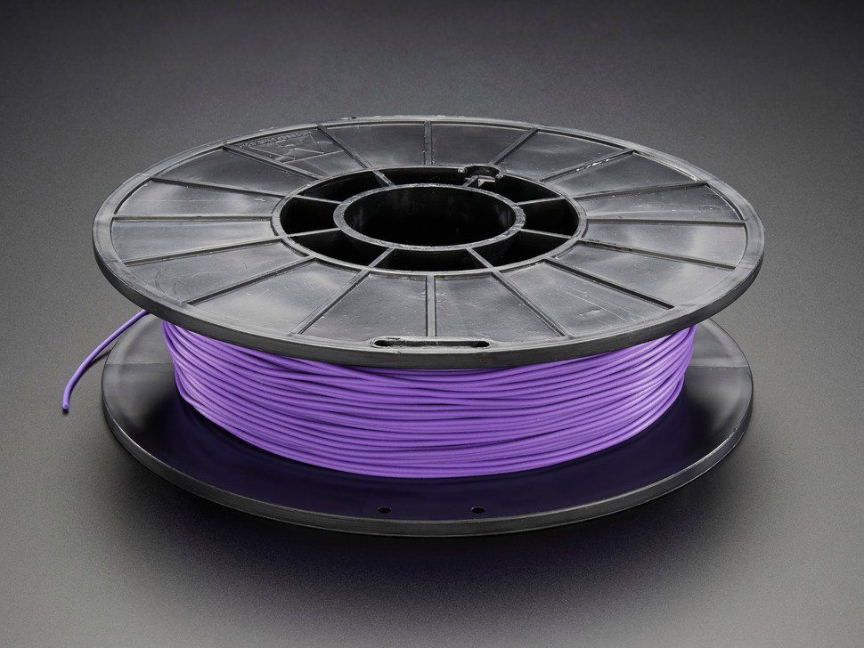 Spool of NinjaFlex Filament for 3D Printers - violet grape color with 1.75mm Diameter.