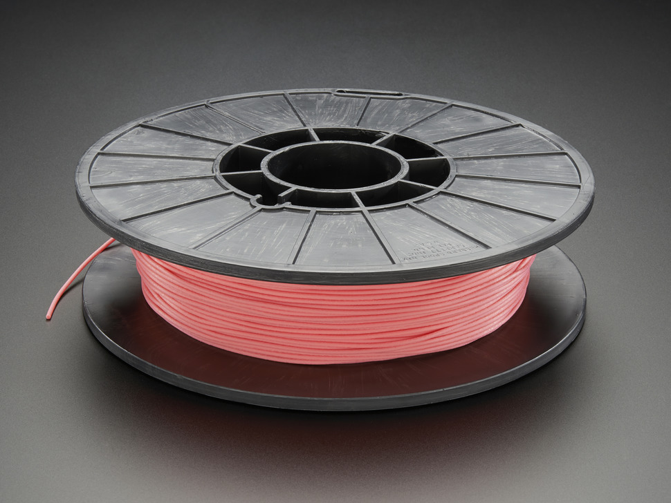 Spool of NinjaFlex Filament for 3D Printers - flamingo pink color with 1.75mm Diameter.