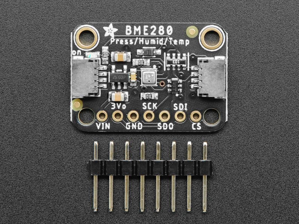 Adafruit BME280 I2C or SPI Temperature Humidity Pressure Sensor - STEMMA QT