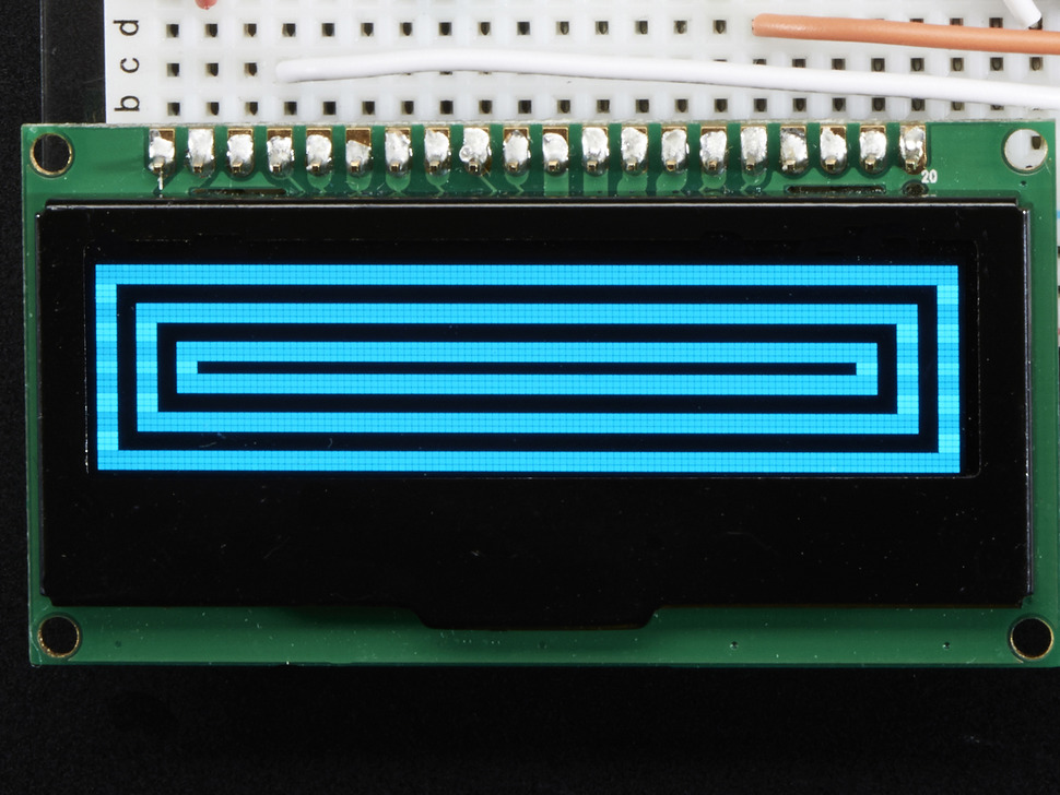 "Monochrome 2.3"" 128x32 OLED Graphic Display Module Kit"