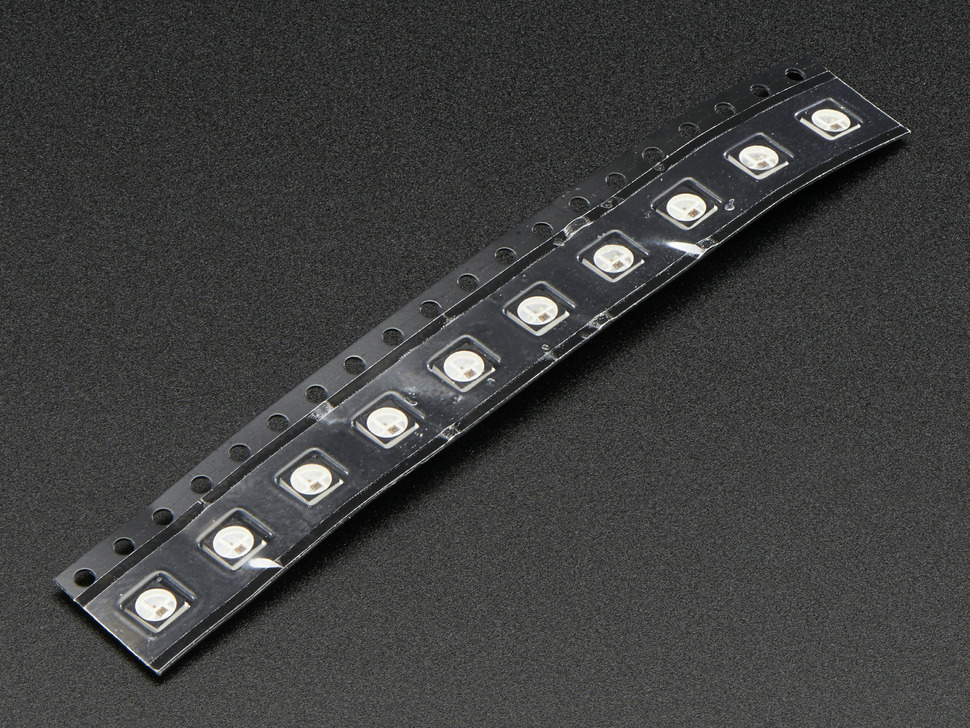 NeoPixel Mini 3535 RGB LEDs w/ Integrated Driver Chip - Black - Pack of 10