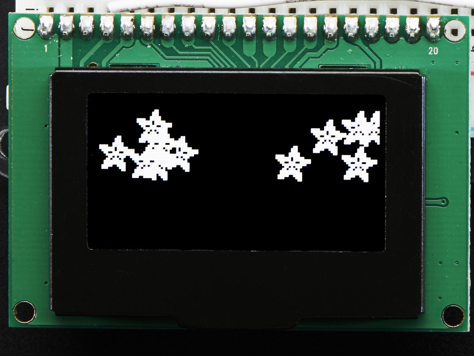 "Monochrome 1.54"" 128x64 OLED Graphic Display Module Kit"