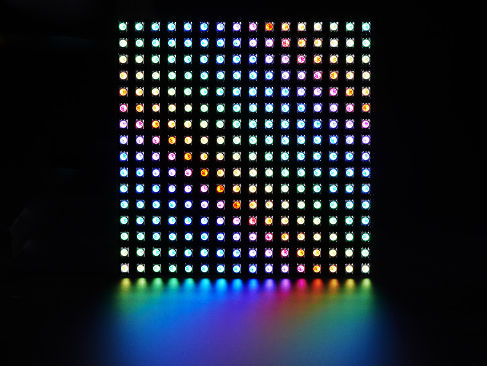 Flexible Adafruit DotStar Matrix 16x16 - 256 RGB LED Pixels