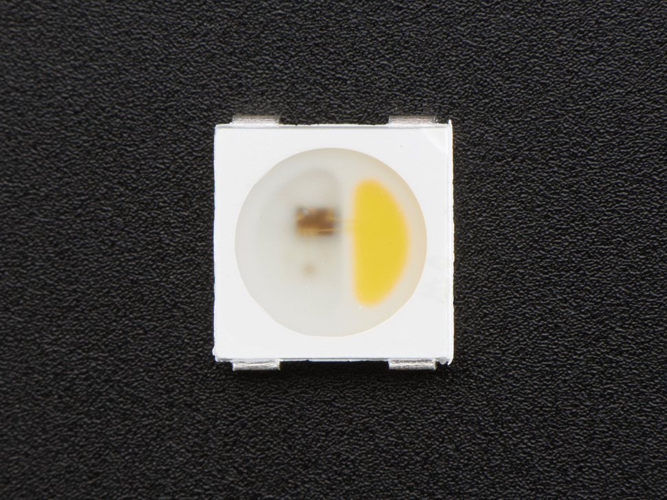 NeoPixel RGBW LEDs w/ Integrated Driver Chip - Warm White - ~3000K - White Casing - 10 Pack