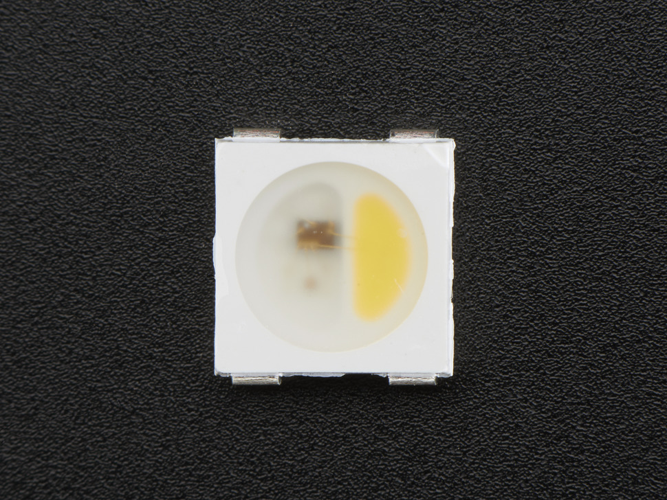 NeoPixel RGBW LEDs w/ Integrated Driver Chip - Natural White - ~4500K - White Casing - 10 Pack