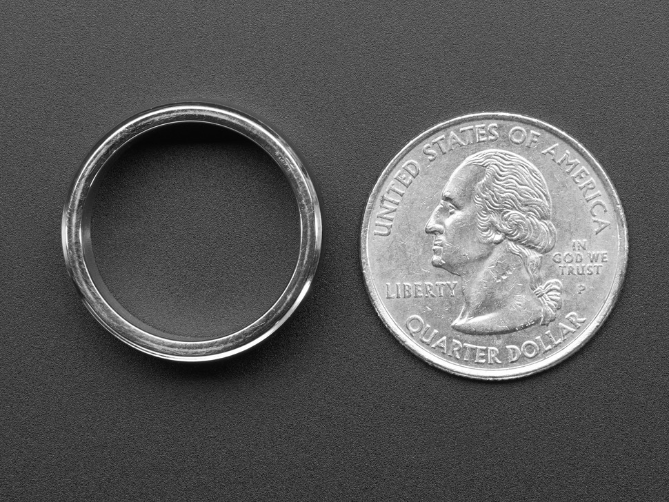 Ring next to quarter