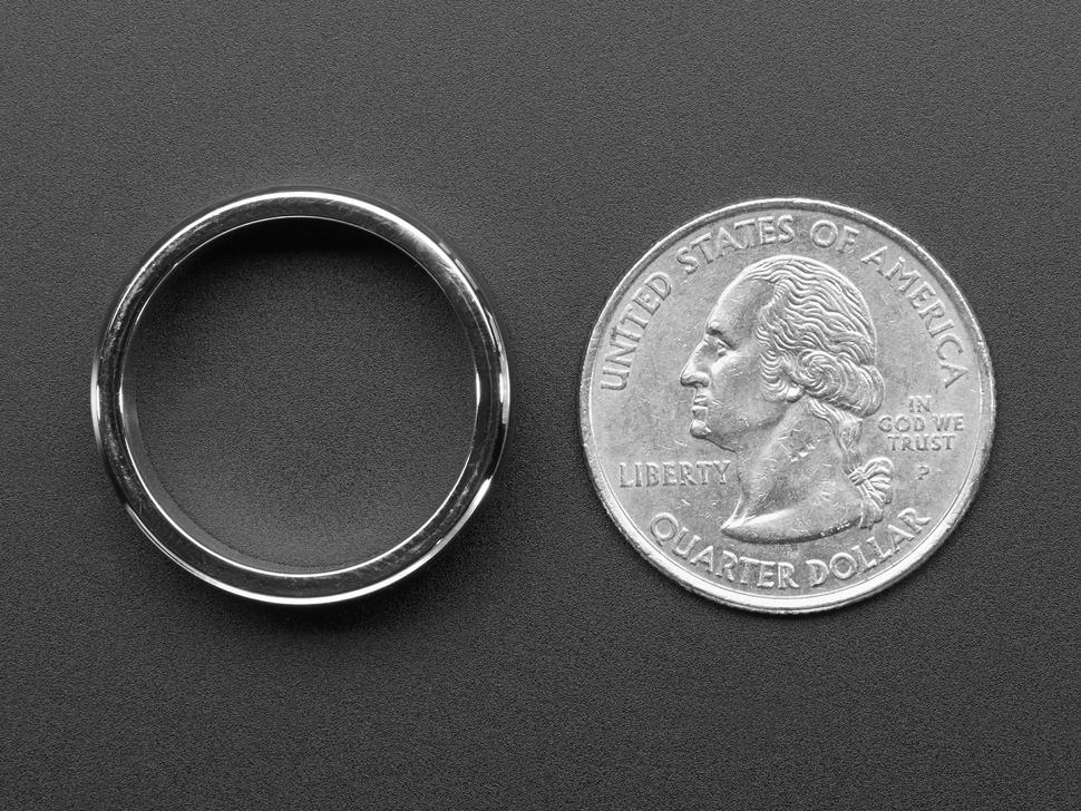 Ring next to quarter