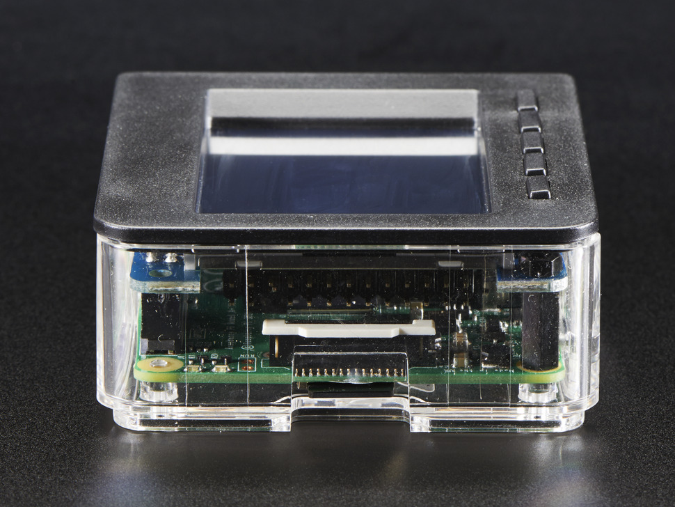Angled shot featuring display connector on Pi computer.